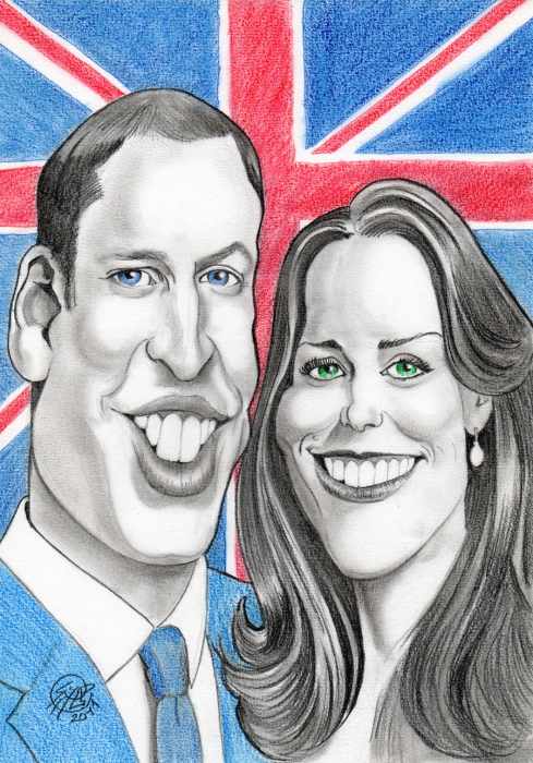 Kate Middleton, Prince William by PhilLP